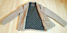 Dockers Men Jacket Long Sleeve Khaki Tan Zip Up Quilted Insulated Inside