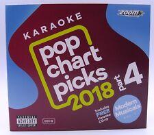 Zoom Karaoke CD+G - Pop Chart Picks 2018 (Part 4) + FREE Modern Musicals CD+G