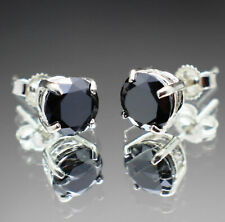 1.00 to 1.80tcw Real Natural Black Diamond Earrings Silver or Gold & $700 Value+