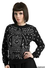 Jawbreaker Womens Hieroglyph Sweatshirt  Alternative Gothic