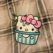 Hello Kitty Loungefly Ice Cream Coin Purse Pouch Sanrio Keychain Nwt