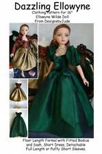Dazzling Dress Doll Clothes Sewing Pattern for Ellowyne Wilde, Tonner
