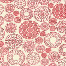 Moda Sweetwater Wishes Doilies Fabric in Vanilla Red 5531-14 100% Cotton
