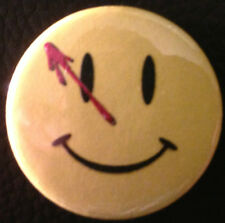 BUY 2 & GET 1 FREE - Watchmen Smiley Face 25mm 1'' Pin Button Badge DC Comics