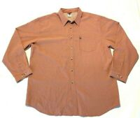 The North Face Mens Long Sleeve Button Up Shirt Plaid Orange Tan Size - XXL