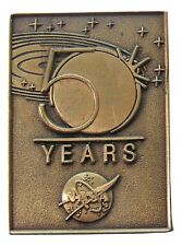 NASA Winco PIN '08 vtg 50 YEARS! Anniversary OFFICIAL EDITION - BRONZE vector