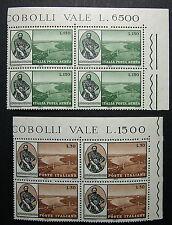 1964  ITALIA 30+130 lire Aerea Verrazzano   2 quartine adf  MNH**