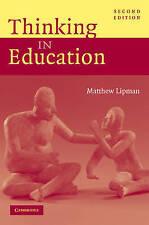 Thinking in Education, Lipman, Matthew, Very Good Book