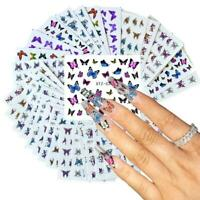 30Pcs Nail Polish Sticker DIY Colorful Butterfly Nail Art Stickers Beauty Tool