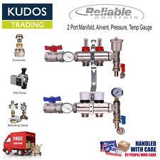 Underfloor heating manifold 2 to12 port kits inc pump option water not Electric