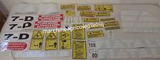 Serie Decalcomania-Adesivi Per Trattore Fiat-Allis 7D...