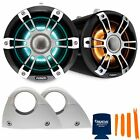 Fusion SG-FLT882SPC 8.8'' Sports Grille Grey Chrome Tower Speakers, RGBW LED
