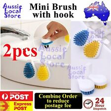 2 pcs Mini Sink Brush Washing Cleaning Kitchen Bath Basin Cleaner Tool with hook