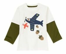 18-24 Months, Gymboree FLIGHT SCHOOL, Flying Squirrels Long Sleeve Tee, NWT