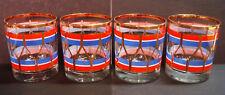 New listing Houze Civil War - Mcm - Regimental Snare Drum - Old Fashioned Glasses - Set of 4