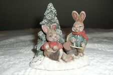 "Sarah'S Attic, Two Bunnies By A Tree, ""Love One Another"", Limited Edition, 1993"