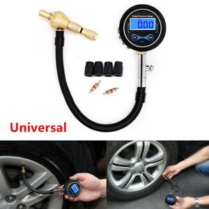Digital Car LCD Tire Air Bleeder Deflator Wheel Pressure Gauge Meter PSI BAR