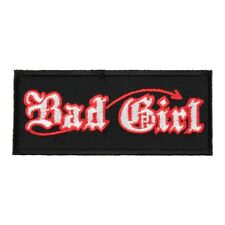 Bad Girl Devil Old English Patch, Ladies Devil Patches