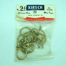 14 KIRSCH Vintage Metal Curtain Rod Rings Eyelet 1420E Inside Diameter 1/4""