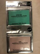 Mattifying Blotting Sheets / Rose & Green Tea