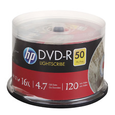 HP LIGHTSCIRBE printable recordable DVD-R 16x blank disc disk 4.7GB LOT