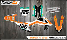 KTM 2000-2017 SX SXF EXC XC MOTOCROSS Graphics Kit 85 125 150 250 450 DECALS