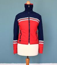 Women's vintage années 70/années 80 rouge/bleu veste de ski/anorak Rétro Boho 6