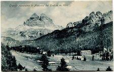 1907 Misurina Del Cadore Grande Panorama Monti Vallata FP B/N
