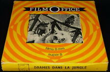 *** FILM SUPER 8 NB MUET 60 METRES - DOCUMENTAIRE / DRAMES DANS LA JUNGLE ***