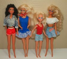 Vtg 1980s Lot 4 Dolls BARBIE Teen Skipper MIKO Kira Celebrate July 4th AMERICA