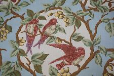 Ralph Lauren Home Fabric Birds in Trees Blue Brown Lavender SOLD BY THE YARD
