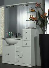 MOBILE da BAGNO per ARREDO bianco LACCATO lavabo CERAMICA+TOP MARMO+ specchio|A5