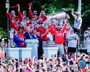 Alex Ovechkin Parade Stage Party RARE Washington Capitals 8x10 photo Stanley Cup