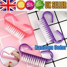 10PCS Nail Art Dust Clean Cleaning Brush Manicure Pedicure Tool Plastic Handle