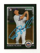 2010 BOWMAN CHROME RUBEN TEJADA ROOKIE AUTOGRAPH CARD #216 SIGNED IN PERSON