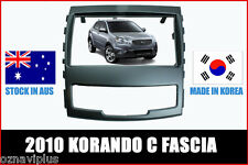 SSANGYONG KORANDO FASCIA 2010 OEM STYLE + ISO HARNESS CONNECTOR