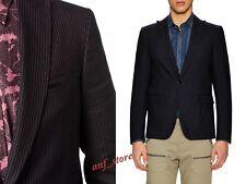 NWT Diesel Black Gold Jupipi Deco STRIPED BLAZER Coat Jacket Size 50 / L $698