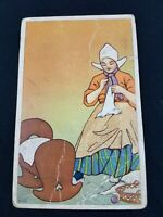 Postcard 1908 mark Postkarte Carte Poste postale Seamstress sewing Baby Cradle