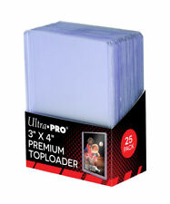 "Ultra Pro 3"" x 4"" SUPER CLEAR PREMIUM Top Loader Card Protectors - Packet of 25"