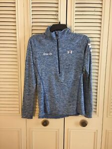 Under Armour Womens 1/2 Zip Athletic Long Sleeve Pullover Shirt XS Blue AVALON