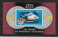 HUNGARY - 1972 - SPACE RESEARCH - Apollo 16 - Scott #C326 - Air Mail Souvenir Sh