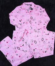 NWT NEW NOIRE JASMINE ROSE Womens PAJAMAS SLEEPWEAR Size Large Flannel