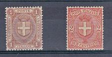 REGNO - 1896 - 1 cent+ 2 cent(65+66) - Centratissimi - MH