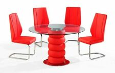 Round Contemporary Glass Conservatory Table & Chair Sets