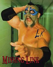 The Missing Link #2 autographed 8x10  WWF WCCW  Free Shipping (Deceased)