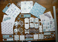 JOURNEY IN TIME 6x6 Kit 4 Diff Designs 6 ofEa &Contrast Back 4 DieCut Sheets C87