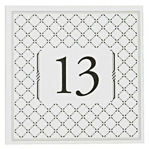 """Table Numbers Cards 13-24 """"Diamonds"""" Double Sided Laminated 5""""x5"""" Banquet Party"""