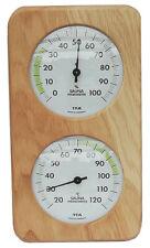 TFA 40.1057.01 Sauna Thermometer Hygrometer Eiche massiv Saunaklima weisse Skala