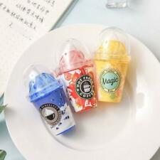 Cute Milk Tea Cup Ice Cream Correction Tape Stationery Corrector Student Supplie