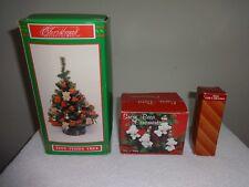 Christmas Tiny Teddy Bear Tree / Candles / Ceramic Figures ( House Of Lloyd )